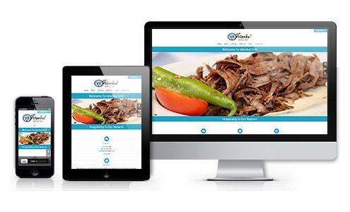 istanbul grill web design