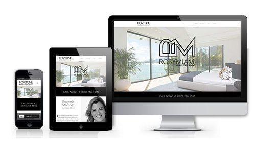 rosy realtor web design