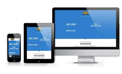 able signs inc web design