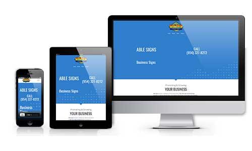 able signs inc web design