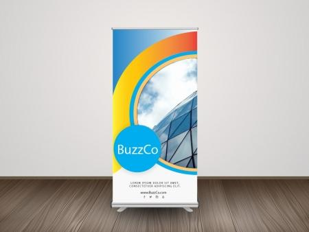 Retractable Roll-Up Banner Display RollUp Banner with Stand 1 iGlobalWeb