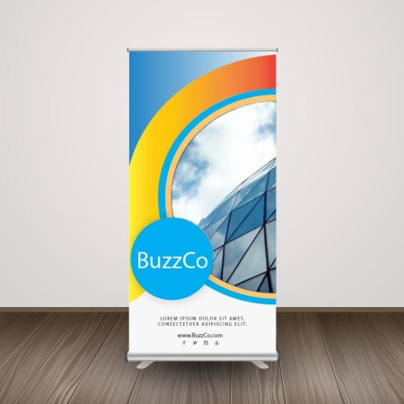 Retractable Roll-Up Banner Display RollUp Banner with Stand 3 iGlobalWeb