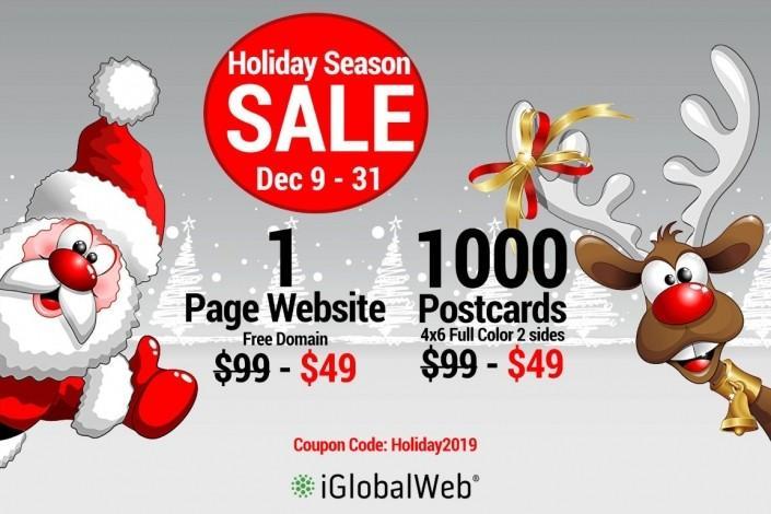 holiday sale web design iglobalweb