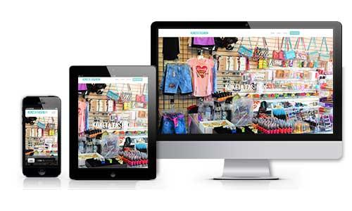 koketa fashion web design branding