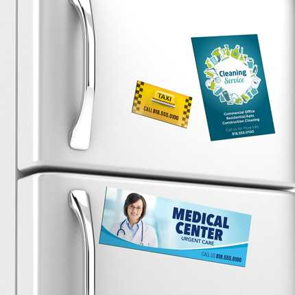 Magnetic Business Cards - Custom Magnetic Cards Printing 2x3.5