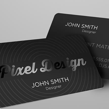 Silk Business Cards - Custom Silk Cards Printing 2x3.5