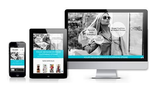 miami fashion group web design